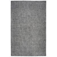 Rizzy Home Brindleton Black/Ivory Wool Handmade Casual Area Rug - 8' x 10'