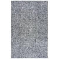 Rizzy Home Brindleton Black/White Wool Handmade Area Rug - 9' x 12'
