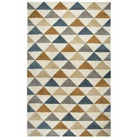 Rizzy Home Marianna Fields Hand-Tufted 5' x 8' Rectangle Rug, Gray