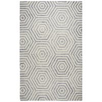 Rizzy Home Lancaster Hand-Tufted 5' x 8' Rectangle Rug, Light Gray