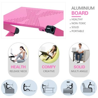 Bed Lap Tray + MousePad + Cooling Fan Portable Foldable Table (2 options available)