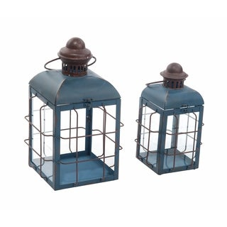 Metal Retro Lanterns Set of Two