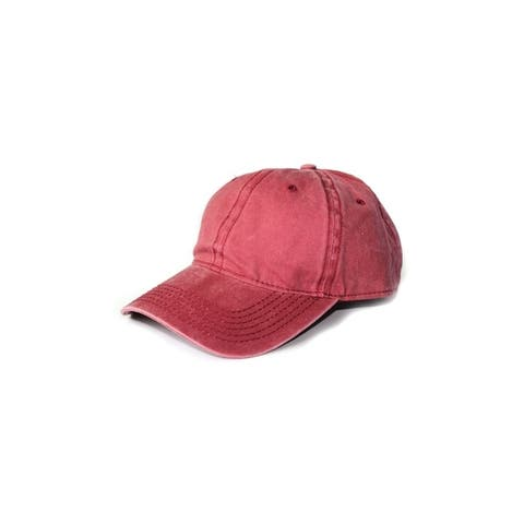 detailed look fe6a7 b0a5c Distressed Washed Cotton Baseball Caps Solid Colors
