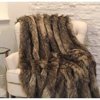 Plutus Mountain Coyote Handmade Luxury Throw