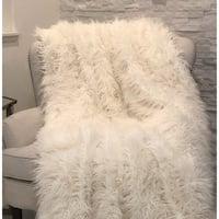 Plutus Mongolian Faux Fur Luxury Throw