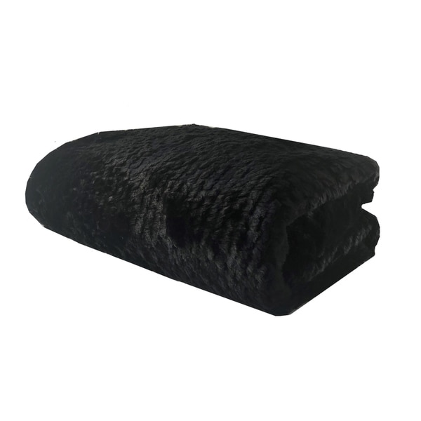 Plutus Black Mink Faux Fur Luxury Blanket