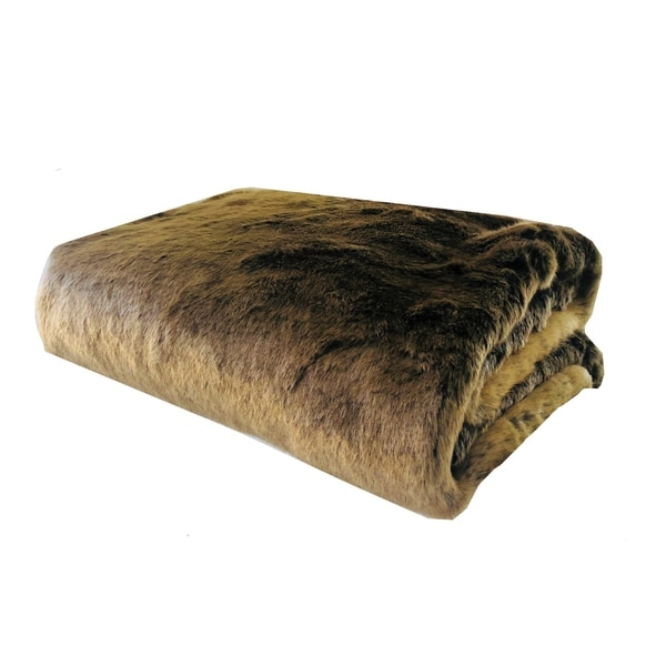 Plutus Tissavel Volga Rabbit Faux Fur Handmade Luxury Blanket