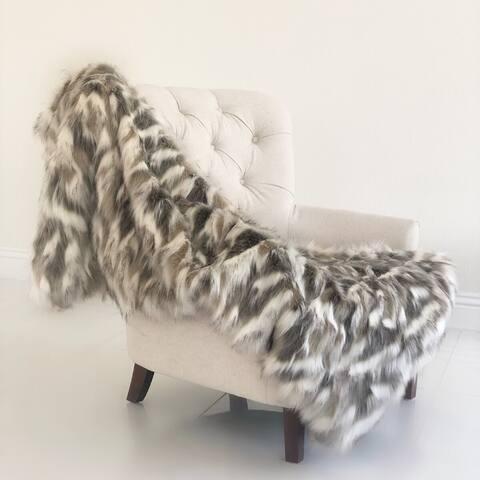 Plutus Tibet Faux Fox Handmade Luxury Blanket