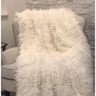 Plutus Mongolian Faux Fur Luxury Blanket
