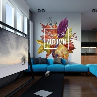 """Fall Lettering Full Color Wall Decal Sticker K-351 FRST Size 52""""x52"""""""