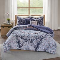 Intelligent Design Skye Blue Boho 5-piece Comforter Set