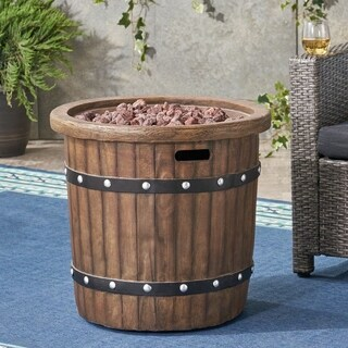Garland Outdoor 25-Inch Light-Weight Concrete Round Fire Pit by Christopher Knight Home