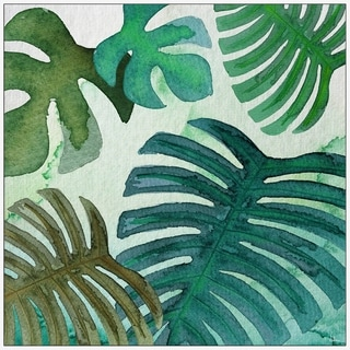 Marmont Hill - Handmade Banana Leaf Introspection Floater Framed Print on Canvas