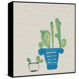 Marmont Hill - Handmade Cacti in a Pot Floater Framed Print on Canvas