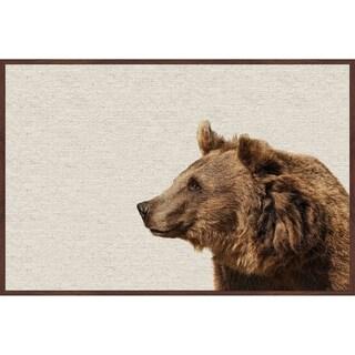 Marmont Hill - Handmade Side Furry Bear Floater Framed Print on Canvas