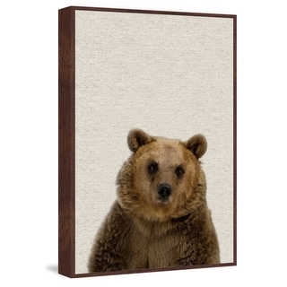 Marmont Hill - Handmade Furry Bear Floater Framed Print on Canvas