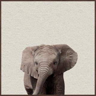 Marmont Hill - Handmade Elephant Surprise Floater Framed Print on Canvas