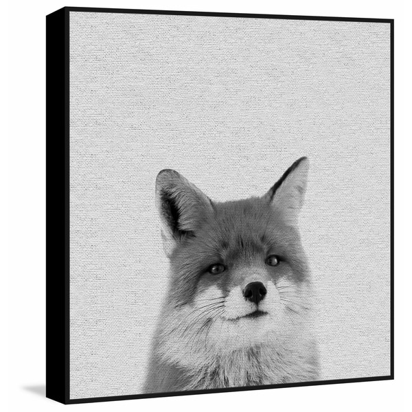 Marmont Hill - Handmade Foxy Surprise II Floater Framed Print on Canvas