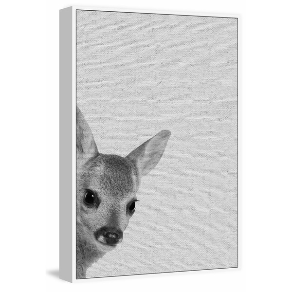 Marmont Hill - Handmade Fawn Surprise II Floater Framed Print on Canvas