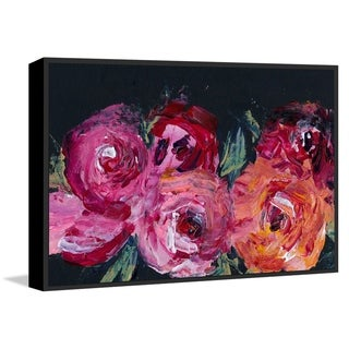 Marmont Hill - Handmade Blooming Rose Floater Framed Print on Canvas