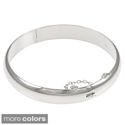 Sterling Essentials Silver 7-inch High Polish Bangle Bracelet (10 mm)