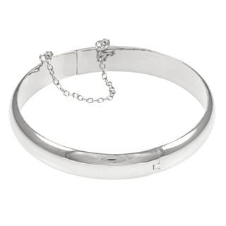 Sterling Essentials Silver 7-inch High Polish Bangle Bracelet (10 mm)