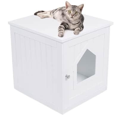 Internet's Best Decorative Cat House & Side Table