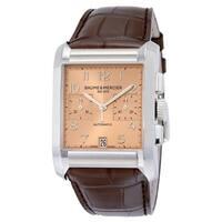 Baume & Mercier Men's  'Hampton' Chronograph Automatic Brown Leather Watch