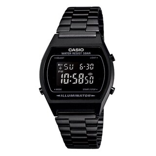 Casio Men's B640WB-1AEF 'Retro' Digital Black Stainless Steel Watch