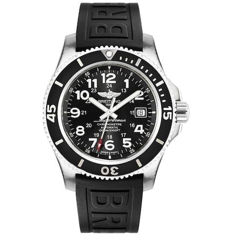 Breitling Men's 'Superocean II' Automatic Black Rubber Watch