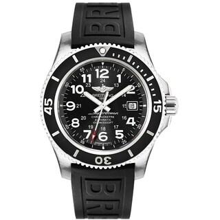 Breitling Men's A17392D7-BD68-153S 'Superocean II' Automatic Black Rubber Watch