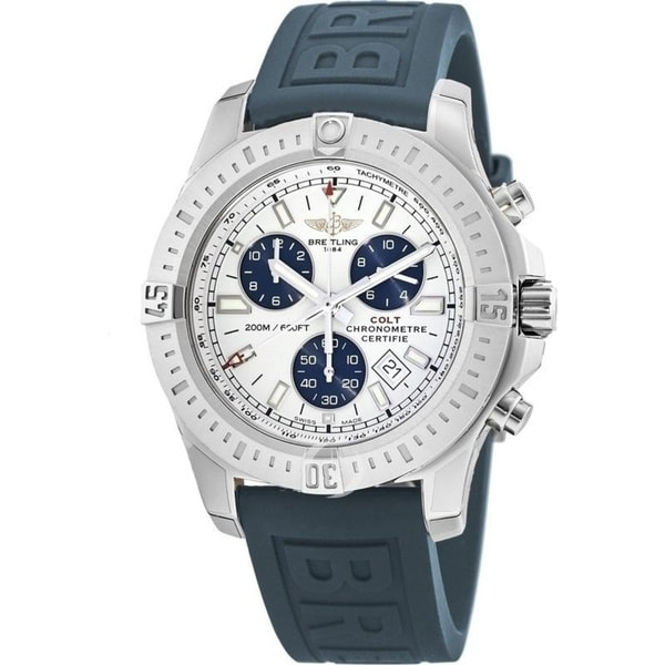 Breitling Men's A7338811-G790-158S 'Colt' Chronograph Blue Rubber Watch