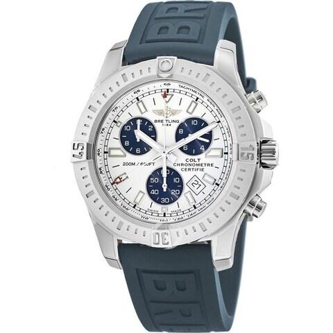Breitling Men's 'Colt' Chronograph Blue Rubber Watch