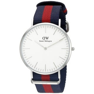 Daniel Wellington Men's DW00100015 'Oxford' Blue and red Nylon Watch