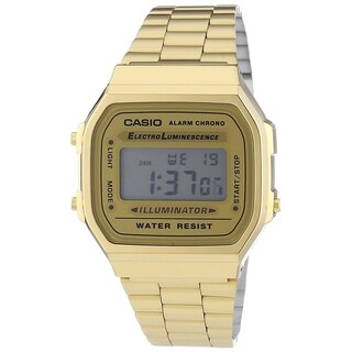 Casio Men's A168WG-9 'Vintage' Digital Illuminator Gold-Tone Stainless Steel Watch