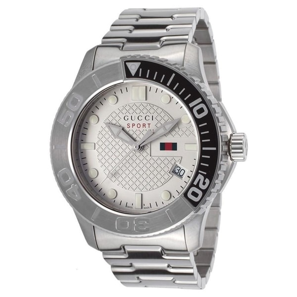 e0bc5fb86a2 Shop Gucci Men s YA126252  G-Timeless  Stainless Steel Watch - Free  Shipping Today - Overstock - 20904270