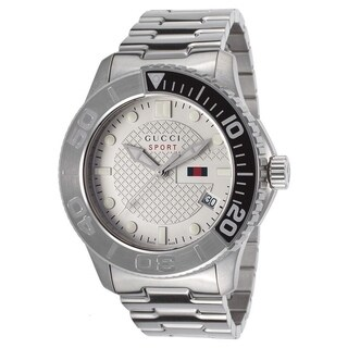 Gucci Men's YA126252 'G-Timeless' Stainless Steel Watch