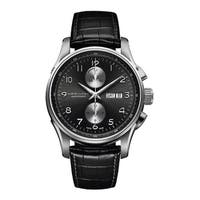 Hamilton Men's H32766783 'Jazzmaster Maestro' Chronograph Automatic Black Leather Watch