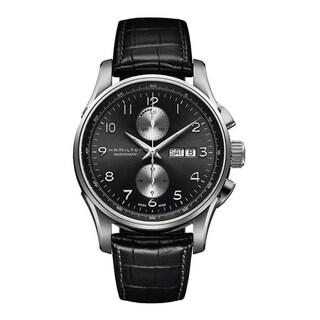 Hamilton Men's H32766783 'Jazzmaster Maestro' Chronograph Automatic Black Leather Watch