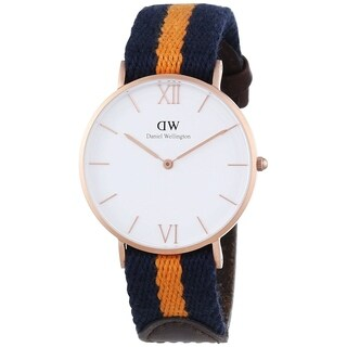 Daniel Wellington Men's DW00100045 'Grace' Blue and orange Nylon and Leather Watch