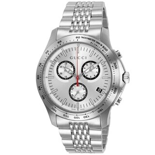 Gucci Men's YA126255 'G-Timeless' Chronograph Stainless Steel Watch