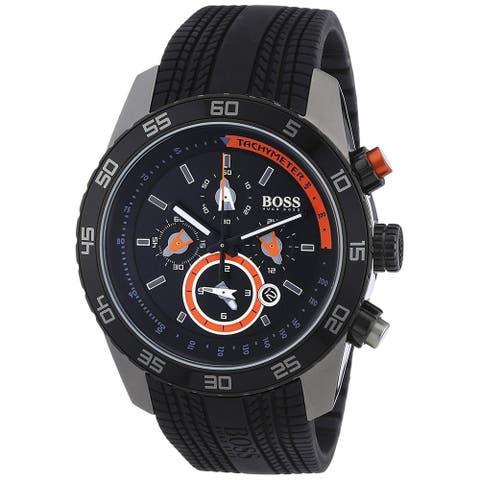 Hugo Boss Men's 1512662 'Black' Chronograph Black Rubber Watch