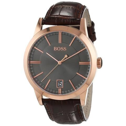 Hugo Boss Men's 1513131 'Success' Brown Leather Watch