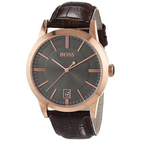 Hugo Boss Men's 1513131 'Success' Brown Leather Watch