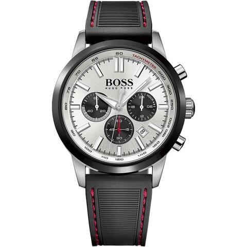 Hugo Boss Men's 1513185 'Racing' Chronograph Black Silicone Watch