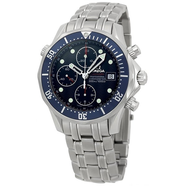 Omega Men's 2225.8 'Seamaster James Bond' Chronograph Automatic Stainless Steel Watch. Opens flyout.