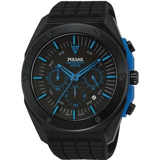 Pulsar Men's Chronograph Black Rubber Watch