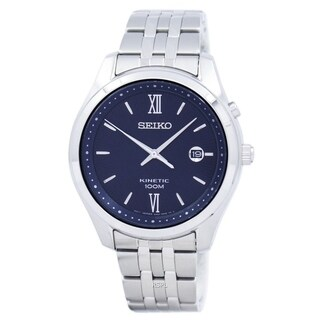 Seiko Men's SKA769 'Kinetic' Date Stainless Steel Watch