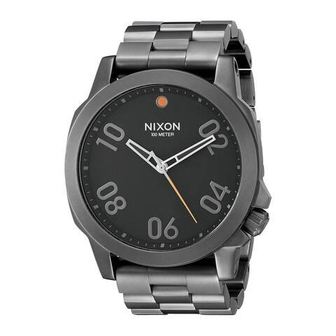 Nixon Men's A506-001 'Ranger' Black Stainless Steel Watch