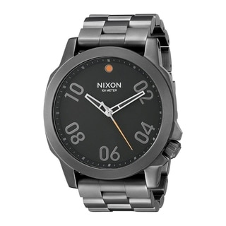 Link to Nixon Men's A506-001 'Ranger' Black Stainless Steel Watch Similar Items in Men's Watches